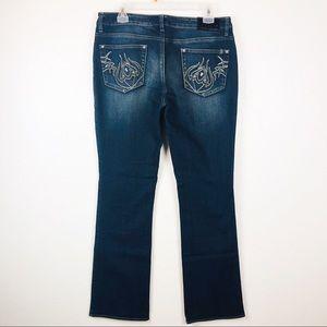 Buffalo | Becca Stretch Boot Cut Jeans Embellished
